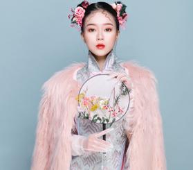 中式旗袍妆作品图片