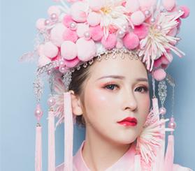 创意新娘妆作品图片